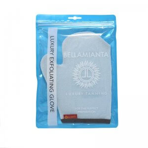 Bellamianta - Luxury Exfoliating Mitt product in display packaging