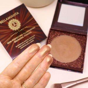 Bellamianta - Skin Perfecting Illuminating Bronzing Powder - on skin