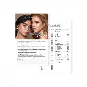 HD Brows - Aftercare Cards