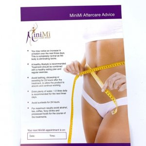 MiniMi Aftercare Leaflets Front