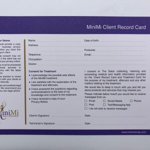 MiniMi Client Record Card Front