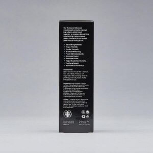 Polished London - Activated Charcoal Mouthwash back of packaging