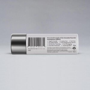 Polished London - Toothpaste Tablets reverse packaging