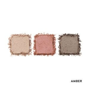 HD Brows Eyeshadow Trio Palette Amber Swatches