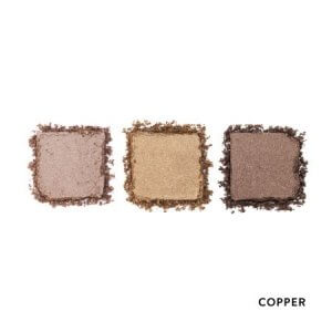 HD Brows Eyeshadow Trio Palette Copper Swatches