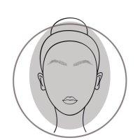 Oval Face Shape Diagram Woman