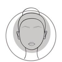 Round Face Shape Diagram Woman