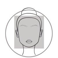 Square Face Diagram Woman