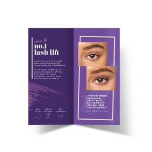 Nouveau Lashes LVL Consumer Leaflets Back
