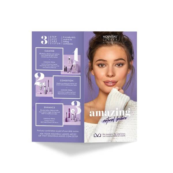 Nouveau Lashes LVL Consumer Leaflets Front
