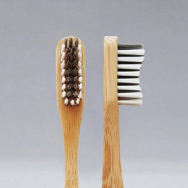 Polished London Bamboo Toothbrush Front and Side