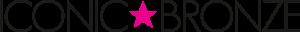 Iconic Bronze Black Logo with Transparent Background