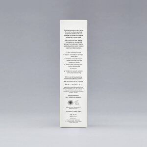 Polished London x LMD Ultra White Toothpaste Packaging with ingredients