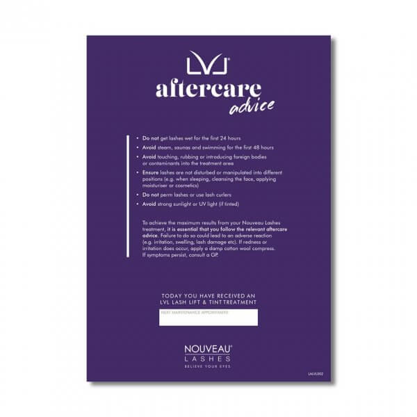 LVL Aftercare Cards (50) Front